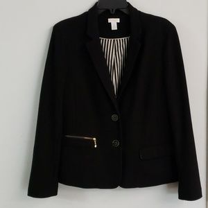 Black blazer with gold
